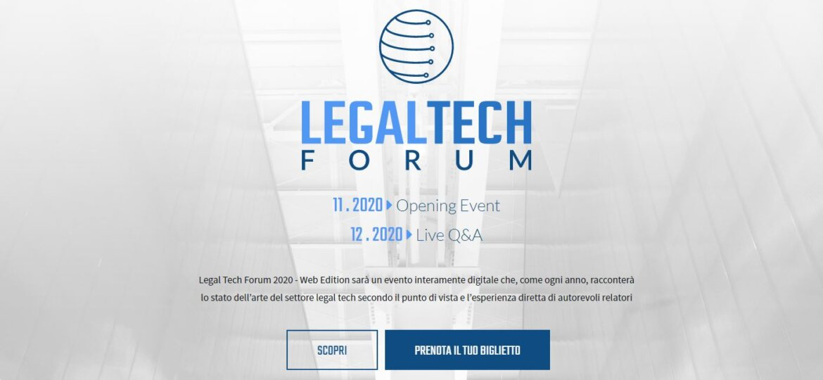 Lex IBC al Legal Tech Forum 2020