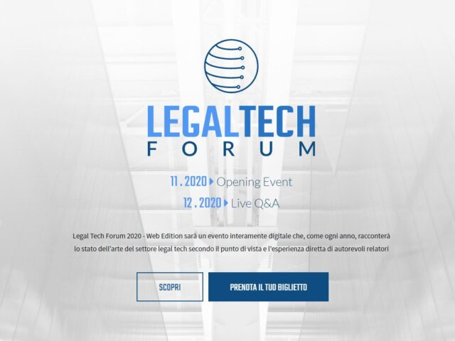 Lex IBC al Legal Tech Forum 2020